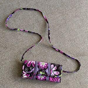 Vera Bradley purple punch crossbody wallet